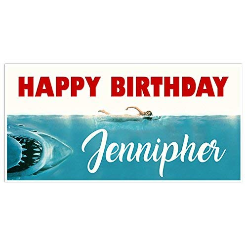 (Jaws Movie Film Birthday Banner Party Decoration Backdrop)