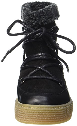 black Bottes Pspaccia De Noir Femme Neige Black Leather Pieces Boot zT6II