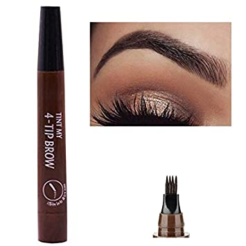 Amazon com : YSH Makeup Microblading Eyebrow Pen Waterproof Fork Tip