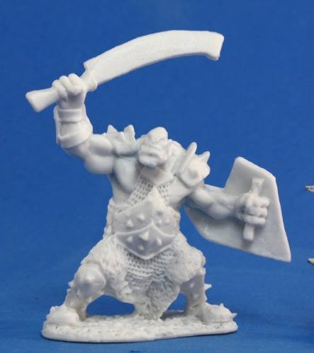 Reaper Orc Marauder with Sword and Shield 77042 Miniatures
