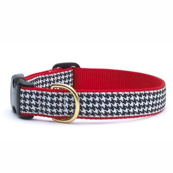 Houndstooth Collar (Up Country- Classic Houndstooth Style Dog Collar-Large)
