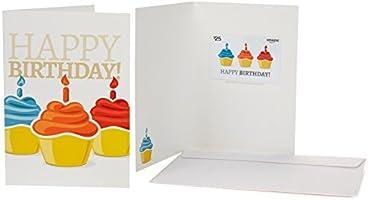 Amazon.com $25 Gift Card in a Greeting Card (Birthday Cupcake Design)