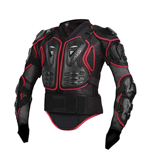 Men Full Body Motorcycle Armor Motocross Racing Protective Gear Motorcycle Protection Red M