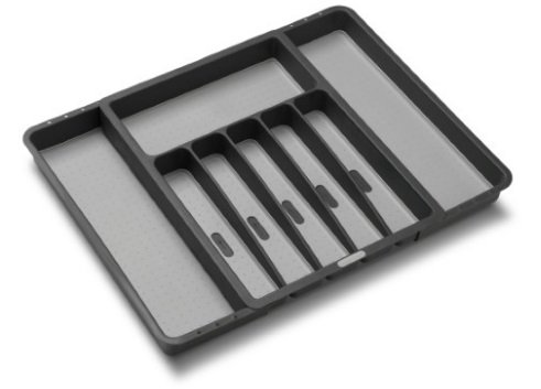 Expandable Granite Silverware Tray -Non Slip Lined