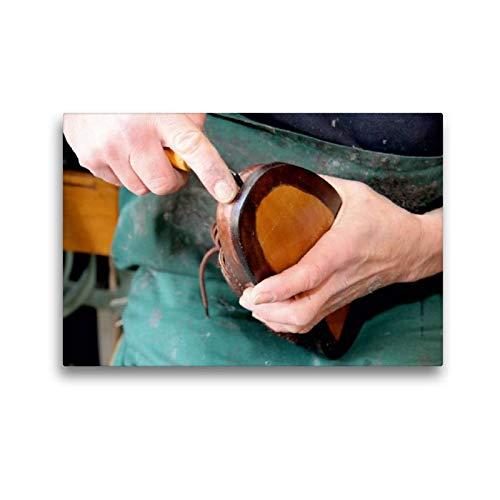 CALVENDO Toile Textile de qualité supérieure de 45 cm x 30 cm - Bordure de la Chaussure - Image Murale sur châssis - Impression sur Toile véritable - Entraînement métier (Homme de