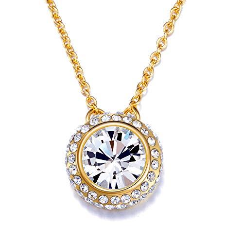 Kingou Swarovski Crystal Pendant Necklace Gifts for Women Birthday Gift