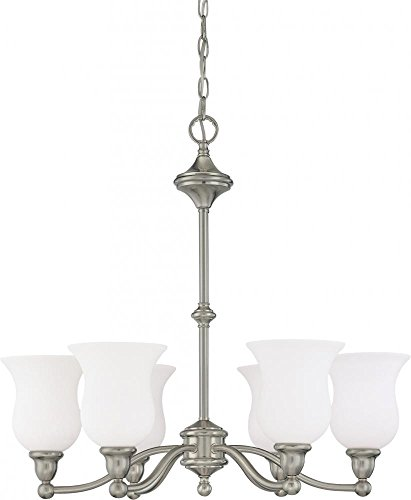 Nuvo 60 1801 Glenwood 3-Light Chandelier, Brushed Nickel