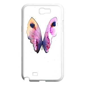 Beautiful Butterfly Design Pattern Hard Skin Back Case Cover Potector for Samsung Galaxy Case Note 2 TSL313460