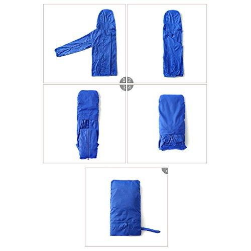 A Donna Lunghe Camicia Arancia Maniche S Da Cerniera Con Blu Colore Dimensioni wAEBBS1q