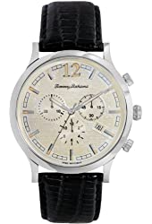 Tommy Bahama Steel Drum Chronograph Black Leather Men's watch #TB1239