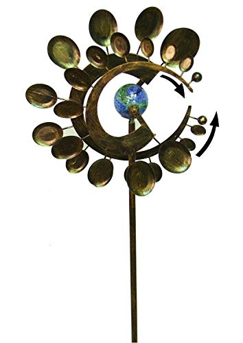Atarstore Garden Wind Spinner Yard Decor Outdoor Kinetic Metal Art Windmill Sculpture