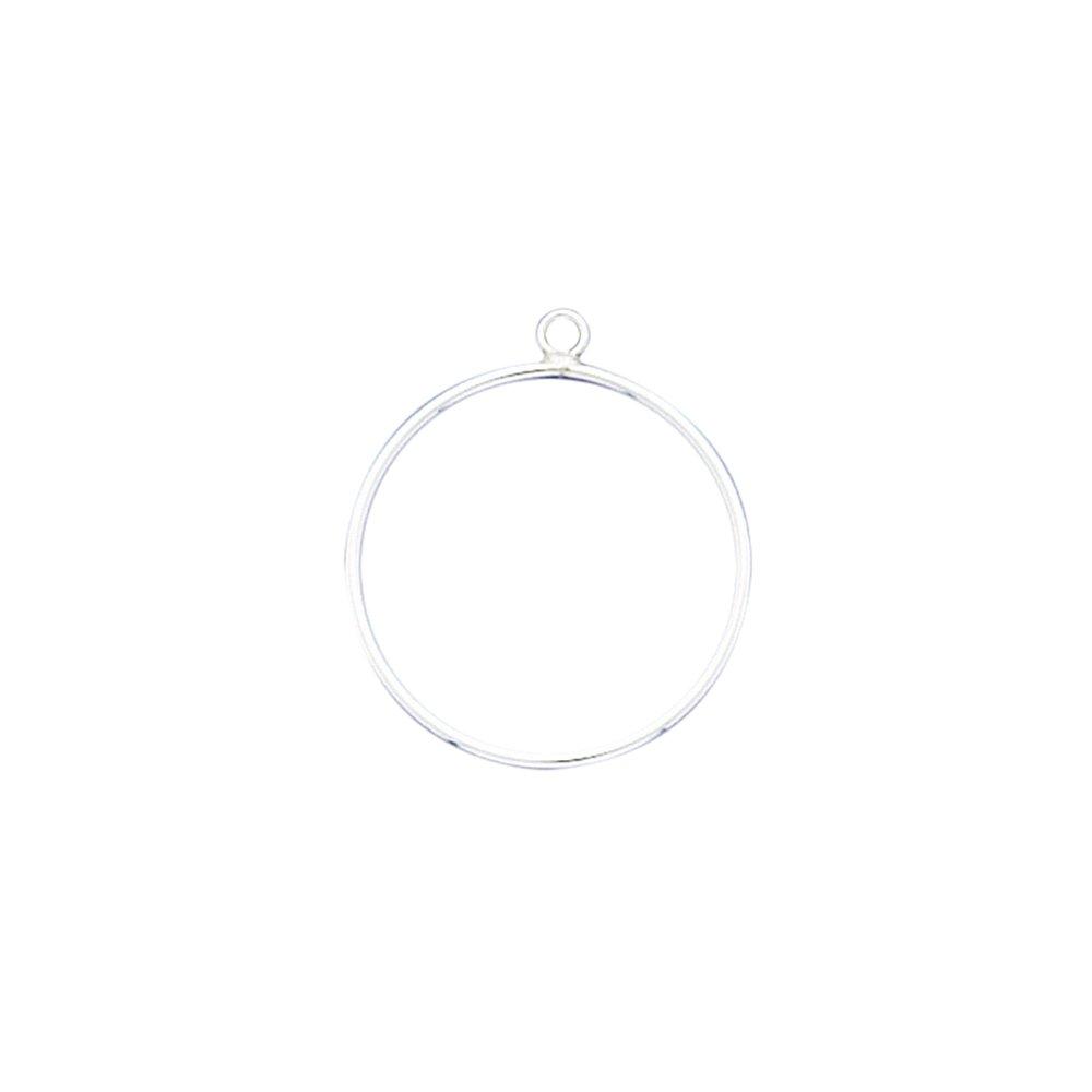 925 Sterling Silver Hoop Post Studs Earrings 1-1//8 16 Gauge