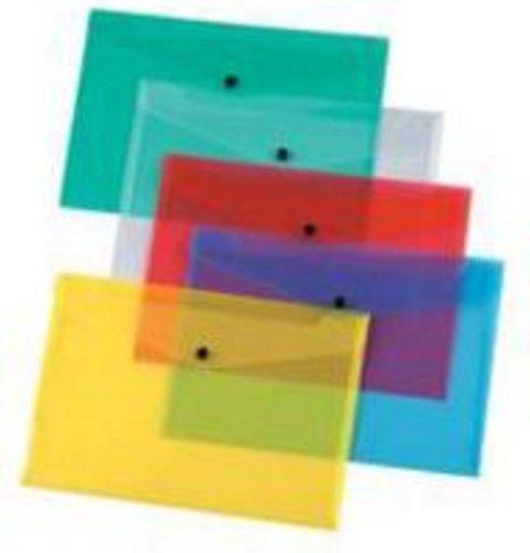 Q-Connect A5 Polypropylene Document Folder Pack of 36 Assorted