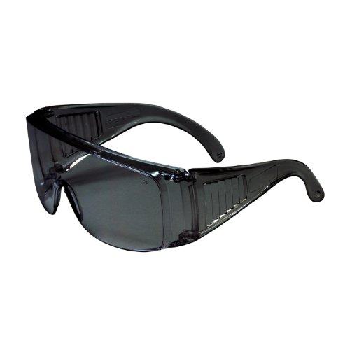 Scout OTG Safety Glasses Clear Lens Clear Louvered Temples Over-The-Glass 12 ()
