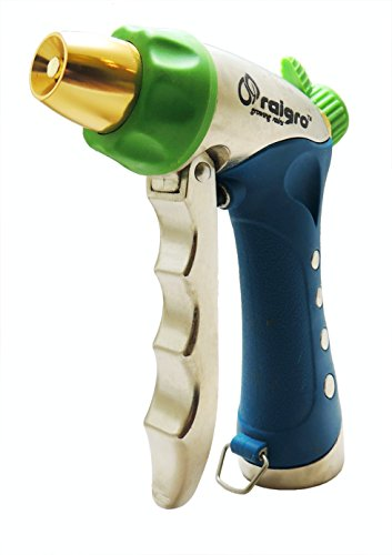 Lock Nozzle (Raigro Platinum Adjustable Spray Pistol – Powerful Garden Hose Nozzle - Pull-Trigger Ease with Lock - Perfect for Watering Plants & Lawns, and for Any Cleaning Job.)