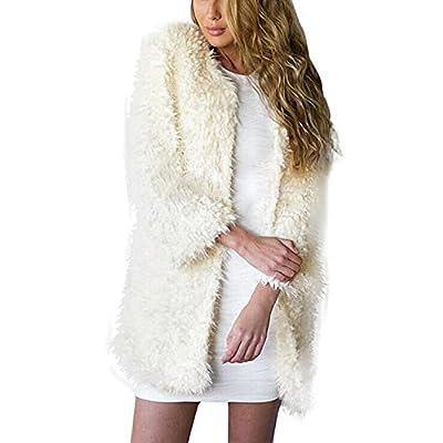 Aurorax Women Faux Fur Fluffy Warm Luxury Long Coat Jacket Cloak Outwear