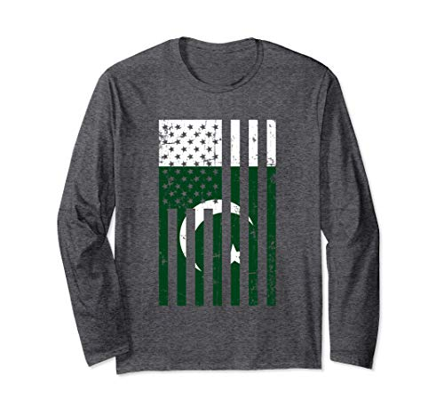 Pakistan American Flag for New US Citizen Gift Long Sleeve ()