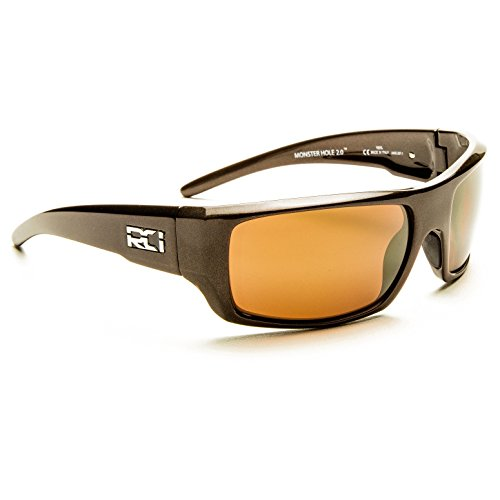 Rci Optics Monster Hole 2 0 100 Percent Polarized Distortion Free Sunglasses  Metallic Teak  Copper Sunrise Gold