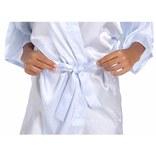 Notte Pigiami e Kimono da BOYANN d'onore Pavone Blu Stampa Caldo Vestaglie e Camicie a Damigella P858Ycrq7