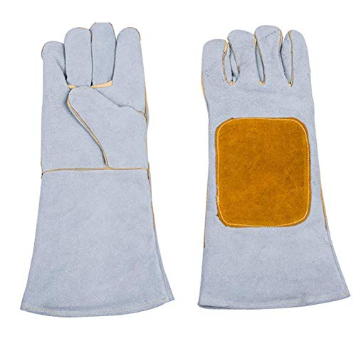 IRVING Electric welding, durable, heat-insulating, wear-resistant, breathable, fire-resistant gloves, high temperature, long argon arc welding, durable (Design : Style one) by IRVING (Image #6)