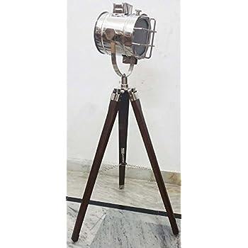 spotlight floor lamp copper amazon marine designer search light decorative wooden tripod australia
