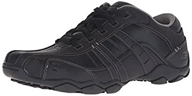 Skechers USA Men's Diameter Vassell Oxford,Black,7 M US