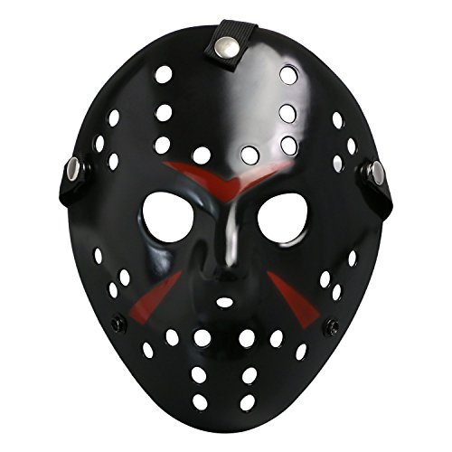 [Friday The 13th Costume Prop Horror Hockey Mask Jason Vs. Freddy Halloween Myers Black] (New Blood Jason Costume)