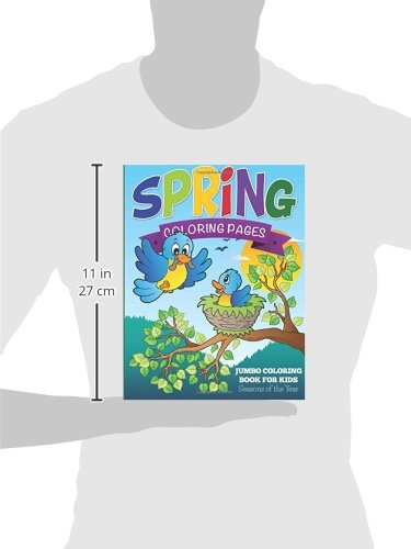 Spring Coloring Pages: Jumbo Coloring Book For Kids - Seasons Of ...