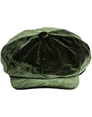 Damer kvinnor flickor sammet bagare pojke Newsboy toppad keps spitfire hatt