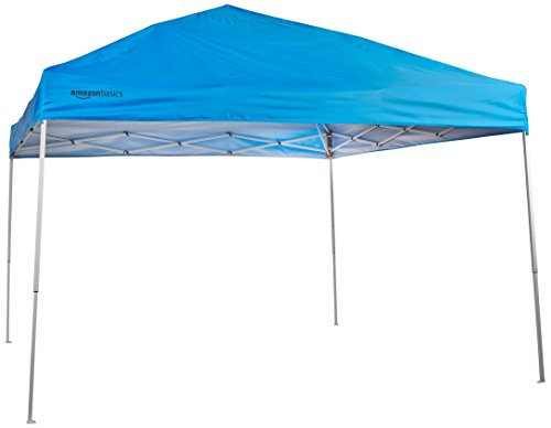 - AmazonBasics Pop-Up Canopy Tent - 10' x 10', Blue