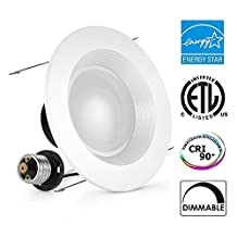 ALEXFIRST 4inch Dimmable LED Downlight, ENERGY STAR, 11W (100W Replacement), 5000K (Daylight White), CRI90+, Retrofit LED Recessed Lighting Fixture,LED Ceiling Light, (1-Pack)