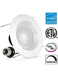 alexfirst 4inch dimmable led downlight energy star 11w 100w replacement 5000k