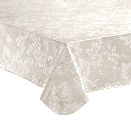 Grapevine Table - Ivory Grapevine Vinyl Tablecloth (60x84