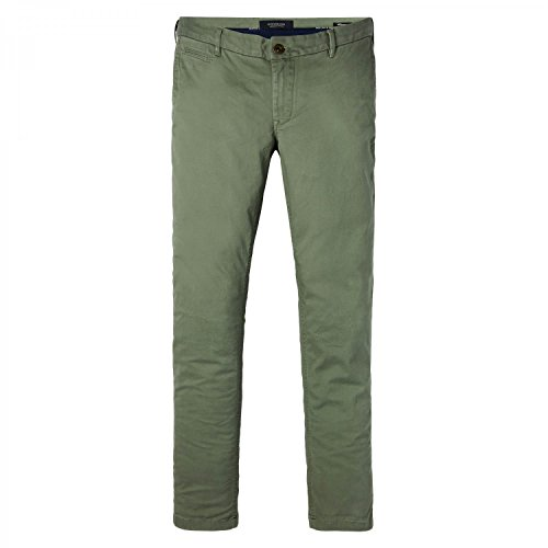 Quality amp; Scotch Uomo In Soda Stretch Twill Pantaloni Classic Chino Salvia gdw0qd