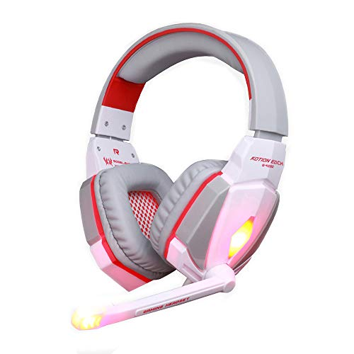 YAOkxin Gaming Headphone Stereo Headset Headband with Mic Volume Control for PC Game Computer Games E-Sports Professional Accessories