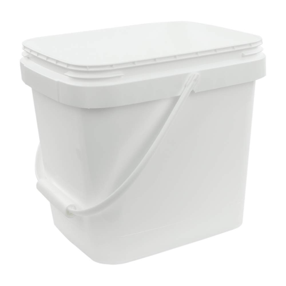 3.5 Gallon White EZ Stor Pail with Handle (Lids Sold Seperately)