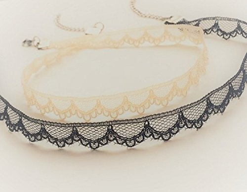 Lace Gothic/Bohemian Choker Necklace Different Colors (Be...
