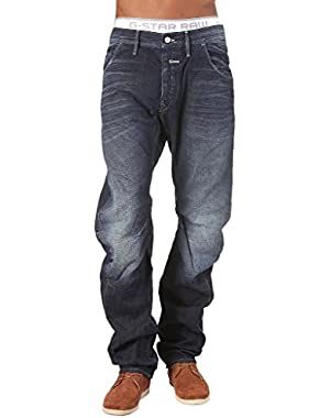G Star Riley 3D Loose Tapered Jeans in Dark Aged Scram Denim, Size W30/L32, $210