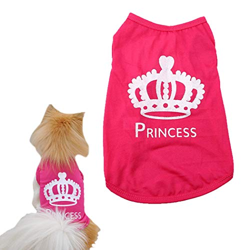 (Petea Princess Cute Pet T-Shirt Puppy Costumes Dog cat Vest Clothes for Dogs and Cats (L))