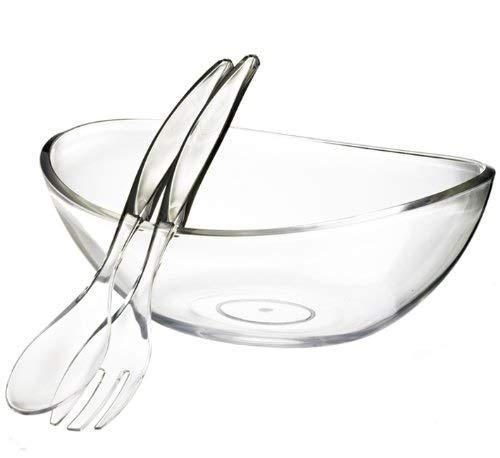 Felli- Crystal clear acrylic serving bowl set. 12.5