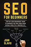 SEO for Beginners: Step-by-step beginners' guide to dominate the first page using Google Analytics, Adwords