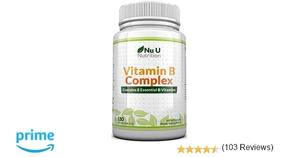 Vitamina B Complex | 180 Comprimidos (Suministro para 6 meses ...
