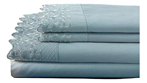 Elite Home Products, Inc. Hotel Lace Microfiber Sheet Set Spa Queen