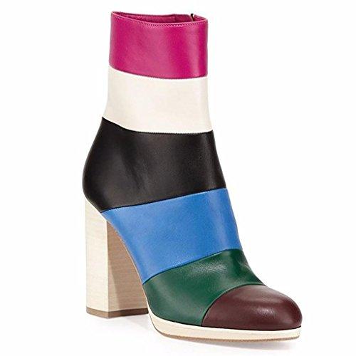 colore colore colore 44 Europa il colpito a ufficio tacchi 39 stivali ortografato alti colore donna ha mano 1 moda arcobaleno qTrtwRET