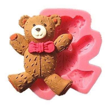 linda que llevaba corbata oso de peluche moldes de pastel fondant ...