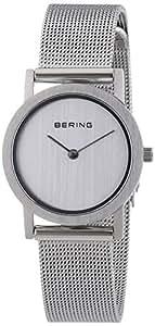Bering Time  Classic - Reloj de cuarzo para mujer, con correa de acero inoxidable, color plateado