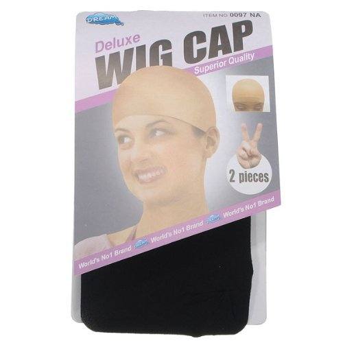 Wig Cap 2 Pack Black