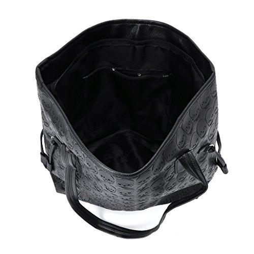 Bags Bag Handbag Purse Shoulder Dabixx Tote Vintage Women Messenger Hobo Skull Rivet FIqBPx47w