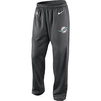 Men's Nike Miami Dolphins Therma-FIT Fleece Pant Anthracite/White Size Medium