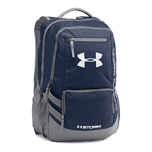 Under Armour Storm Hustle II Backpack, Midnight Navy (410)/Silver, One Size (Gadget 1 Bag)